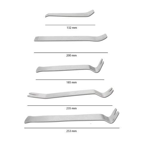 Набор инструментов для снятия обшивки (сталь, 5 предметов) Превью 1