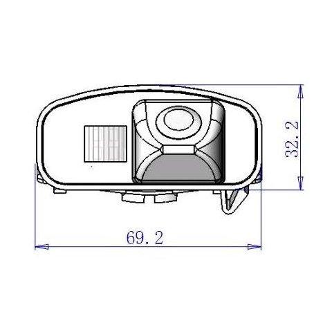 Автомобильная камера заднего вида для Honda CR-V Превью 3