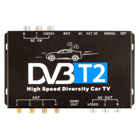 Car DVB-T2 TV Receiver with 4 Antennas Preview 1