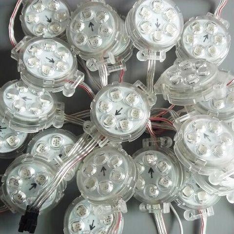 Комплект круглих LED-модулів (UCS1903, 6 світлодів SMD5050, 40 мм, IP67, 20 шт.) - Перегляд 2