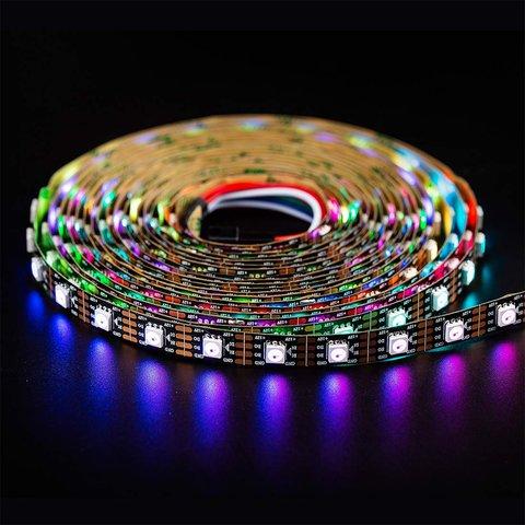 Світлодіодна стрічка RGB SMD5050, WS2815 (чорна, з управлінням, IP20, 12 В, 60 діодів/м, 5 м) Прев'ю 1