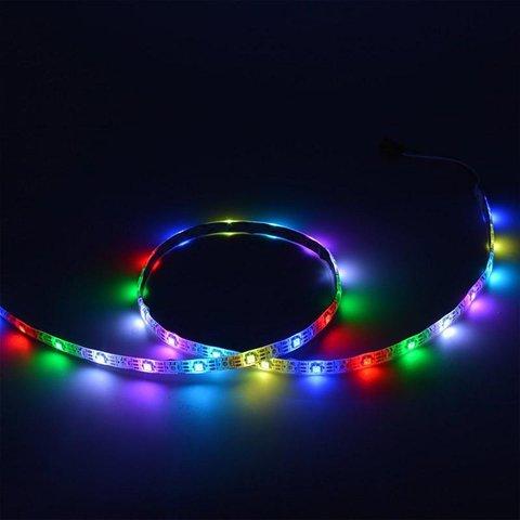 Світлодіодна стрічка RGB SMD5050, WS2813 (біла, з управлінням, IP65, 5 В, 30 діодів/м, 5 м) Прев'ю 1