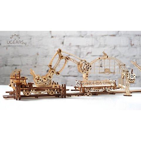 Механічний 3D-пазл UGEARS Маніпулятор на рейках