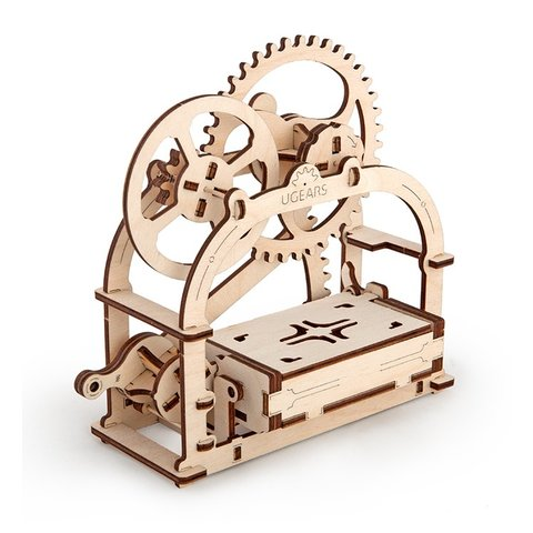 Mechanical 3D Puzzle UGEARS Business Card Holder Preview 3