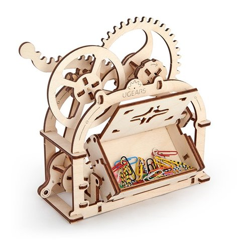 Mechanical 3D Puzzle UGEARS Business Card Holder Preview 5